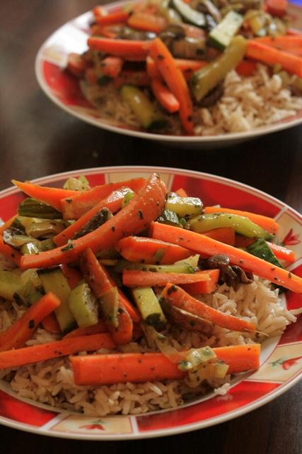 Gemüsecurry mit Basmatireis